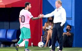 Messi's happiness not in my hands, says Koeman