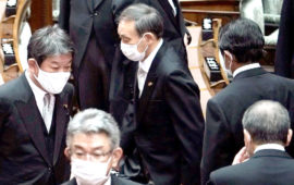 Japan new PM begins 1st full day, vows to push reforms