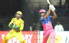 Sanju Samson shines as Rajasthan Royals beat Chennai Super Kings by 16 runs