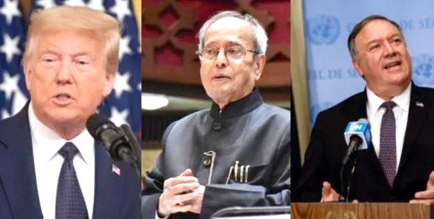 Trump Pompeo Mukherjee