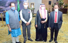 Jaishankar, NSA, Naqvi attend Saudi Arabia's national day