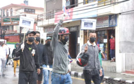 'Go Back China' protests in front of Chinese Embassy in Kathmandu