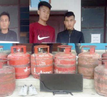 Kohima LPG cylinder thieves