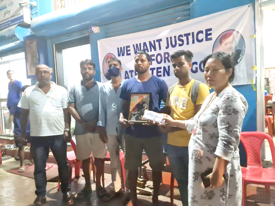 financial help from transporters to Jiten Gogoi family