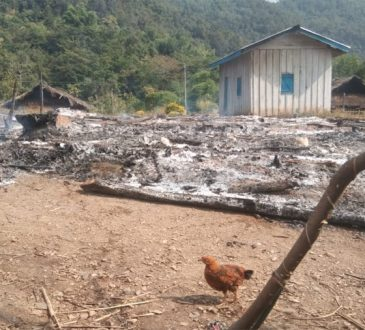 Houses burnt in Noklak