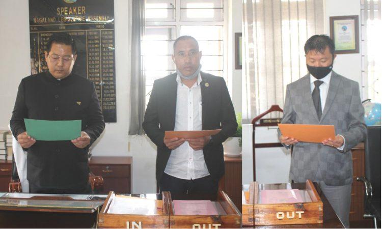 New MLAs taking oath
