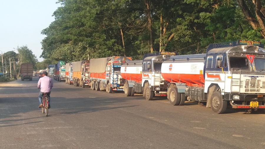 stranded trucks