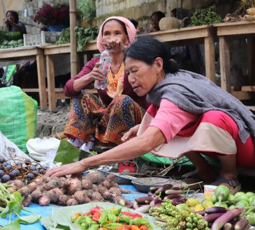 women street vendors selling vegetables at Kohima