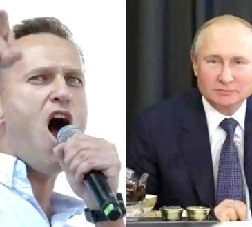 Alexei Navalny and Vladimir Putin