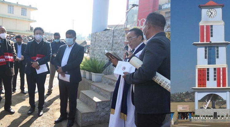 Clock Tower inaugurated at Wokha