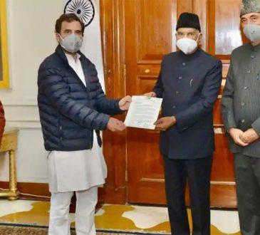 Rahul meets president