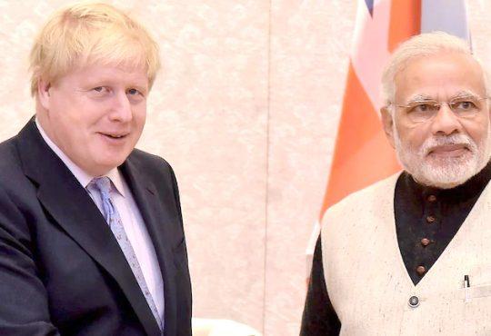Boris Johnson PM Modi