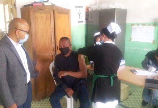 Covid 19 vaccination at Pughoboto