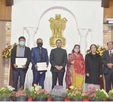 Governors award at Raj Bhavan