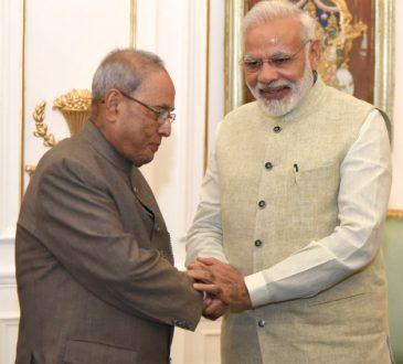 Narendra Modi Pranab Mukherjee