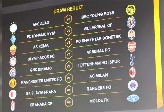 Europa League last 16