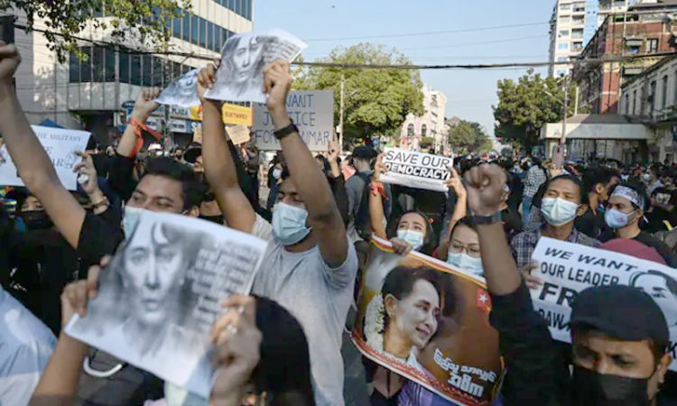 Myanmar Protest Tuesday