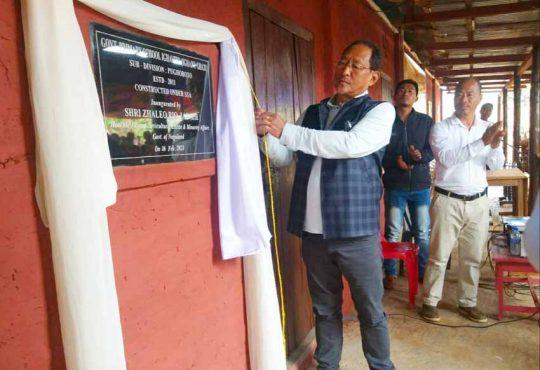 Zhaleo inaugurating GPS at Aghunato