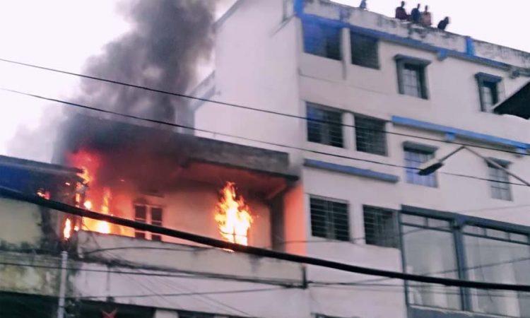 fire in dimapur