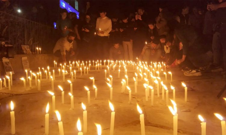 Candlelight solidarity for myanmar