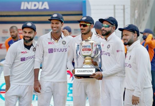 India wins Test series against England