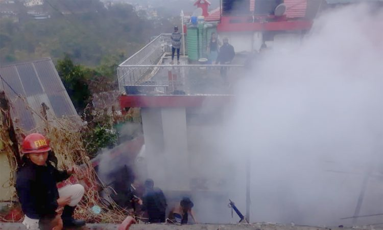 Fire at Kohima