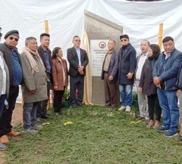 Pangnyu lays Foundation Stone for DH Longleng