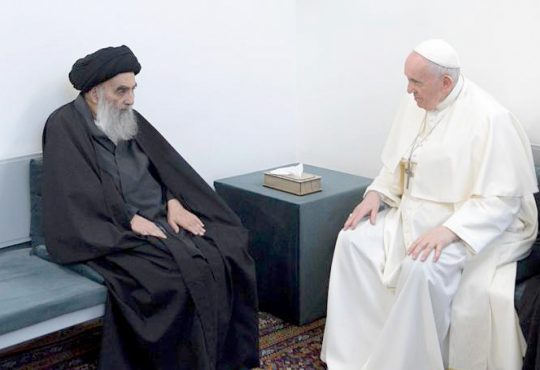 Shiite cleric with Pope
