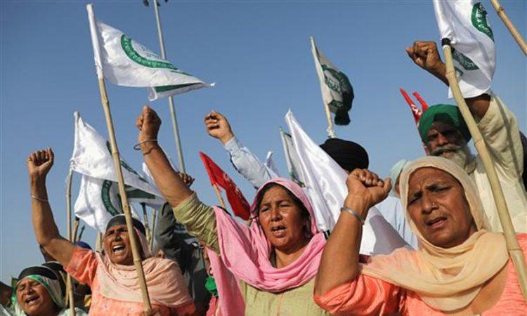 women farmers protest