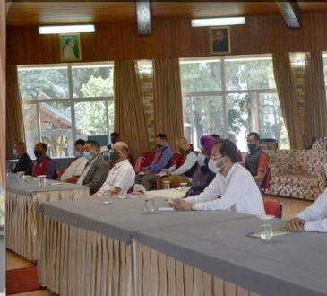 Nagaland Governor R.N. Ravi interacting with other faith based organizations of Nagaland on COVID 19 at Dr. Imkongliba Hall Raj Bhavan Kohima on 20th April 2021 1
