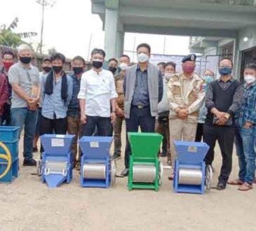 Distribution of coffee Pulper machines at at Longleng 1