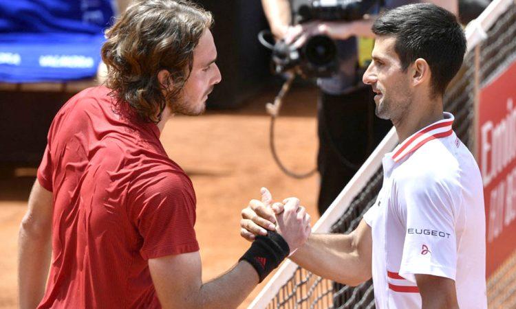 Djokovic survives Tsitsipas scare