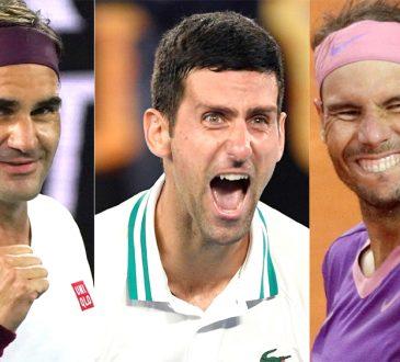Nadal Djokovic and Federer