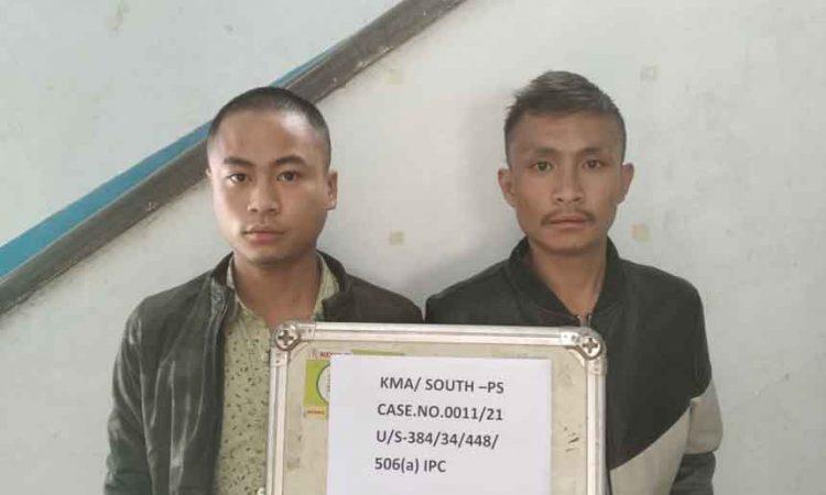 extortionists Kohima