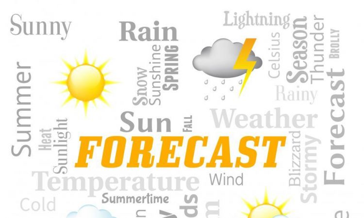 weather forecast represents meteorological conditions and climat