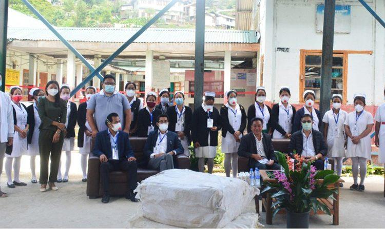 K.T. Sukhalu vists District Covid Hospital Zunheboto