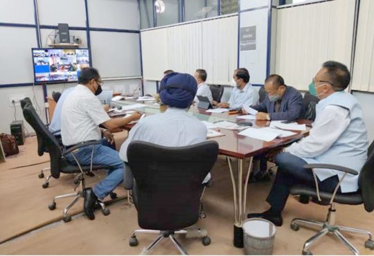 S. Pangnyu Phom holds video conference meeting with CMOs and MS