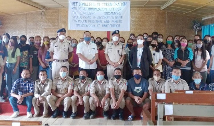 Vaccination drive for Police personnel at Longleng