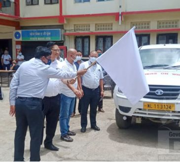 DC Kiphire flagged off MTU vehicle for Kiphire district