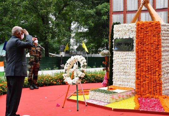 President pays tribute