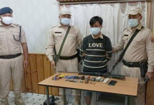 Militant arrested